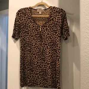 Michael Michael Kors leopard top size m